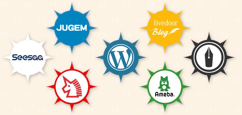 ブログサービス 各社ロゴ一覧